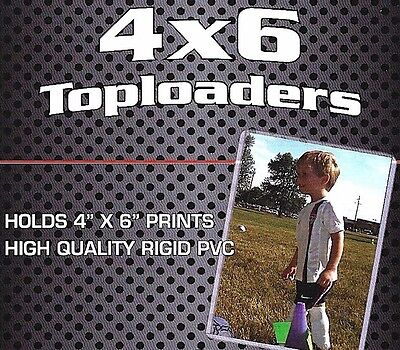 100 4X6 Top Load Holder Rigid Plastic Toploader Photo Postcard  Protector