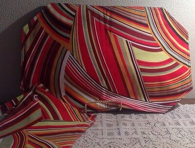 Vintage 1970s Retro PLACEMATS Mod Psychedelic Set of 4 New With Hotpads! EUC