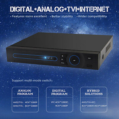 8CH 1080P AHD Security DVR Network HVR Multi function CCTV Monitor