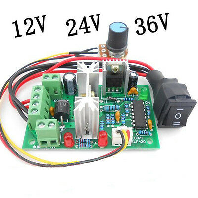 6-30V DC Motor speed Controller Reversible PWM Control Forward/Reverse SwitchU7