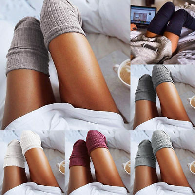 Warm Over The Knee Thigh High Soft Socks Stockings Leggings Women Ladies Girls