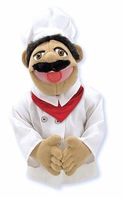 Melissa & Doug Chef Puppet Play Toy Use One Hand To Manipulate The Puppet S Mout
