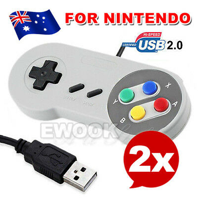 2x Classic USB Joypad Joystick Gaming Controller Gamepad For Nintendo SNES
