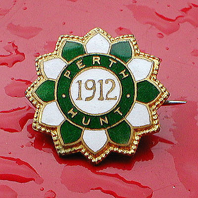 Very Rare and Early Perth Hunt Racecourse Badge 1912