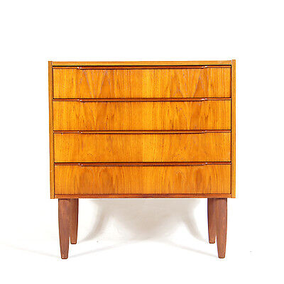 Retro Vintage Danish Design Small Tall Boy Teak Chest of Drawers 1950s 60s 70s
