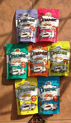 Dreamies Cat Treats 25 x 60g packs for £23.50 = .94p each Free Delivery!!!