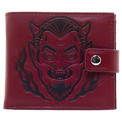 Kustom Kreeps Creepy Devil Billfold Mens Wallet Retro Rockabilly Tattoo Punk