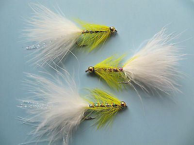 3 X GOLD HEAD YELLOW DANCER WITH WHITE TAIL sizes 8,10,12,14, available