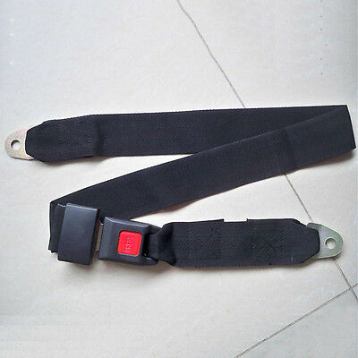 New Black Car Seat Belt Lap Belt Two Point Adjustable Safety Universal ZC