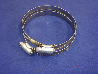 2 x Jubilee Type Hose Clips Size 85mm - 100mm Stainless  BNOS