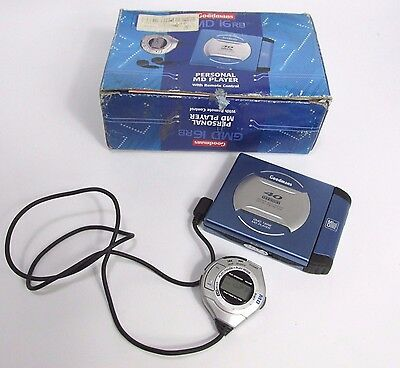 Goodmans GMD 16RB Portable Mini Disc Player - Alloy Case - Free Tracked Delivery