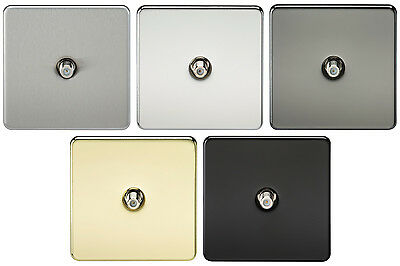 Knightsbridge Flat Plate 1 Gang TV Outlet Socket Non Isolated Coaxial Co-Axial