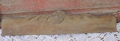 Antique Wood  wooden Architectural Salvage Shelf decor Pediment Ornate