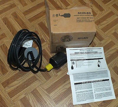 PENTAIR Narrow Angle Control Switch SC20-EO 20 foot Cable New in Box