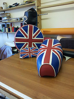 Vespa PX Elasticated Seat  & Wheel Cover inc Back rest Pad  Union Jack