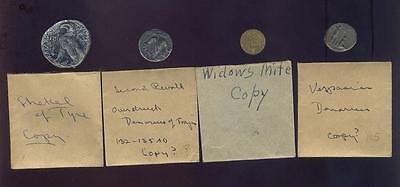 4 Ancient Coin Copies From Old Collection, Free USA Shipping