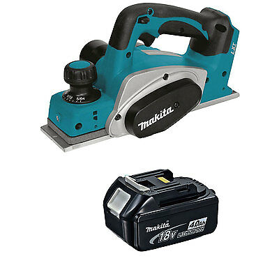 Makita XPK01Z 18V Cordless 3-1/4-Inch Planer and BL1840B Battery with Indicator