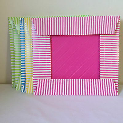 Barbie Outfit Clothes 5 Display Boxes Pink Yellow Blue Green
