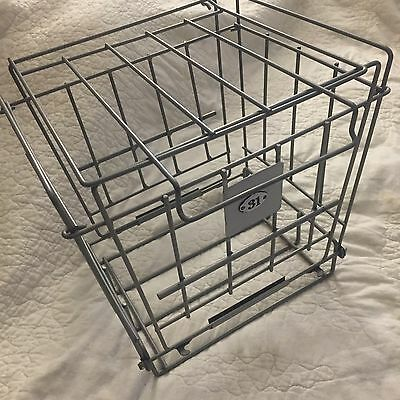 Vintage Gym Locker Room Wire Pool Basket With Lid Tagged Lucky Number 31