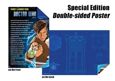 Dr Doctor Who Tardis Blue Print & Everything I Know SE Double-Sided Wall Poster