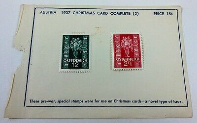 1937 Austria Christmas Stamps 388-89 Lot of 2 MH