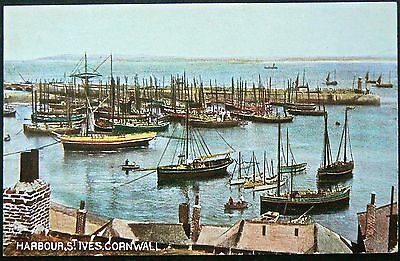 Postcard:st Ives Harbour Cornwall.early Card.publisher:hildesheimer