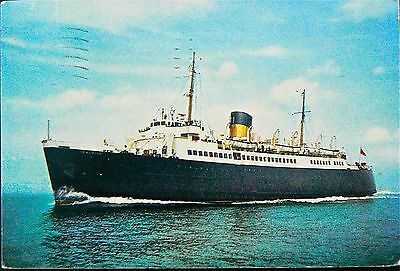 Postcard:s.s.falaise.1947-1974. Postmarked Sealink - Newhaven 1972