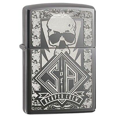 Zippo Sons of Anarchy Reaper Crew Skull Black Ice Pocket Lighter
