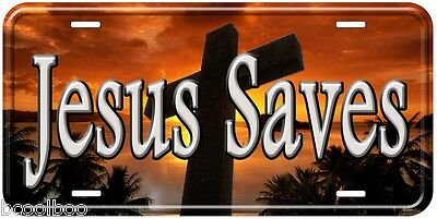 Jesus Saves Novelty Aluminum Car Tag License Plate P01