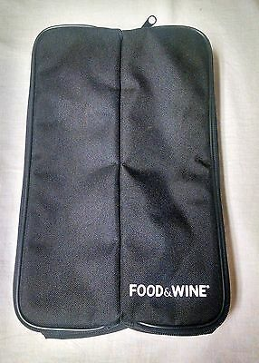 Food & Wine Branded Insulated Wine Bottle Carrier Cooler NEW