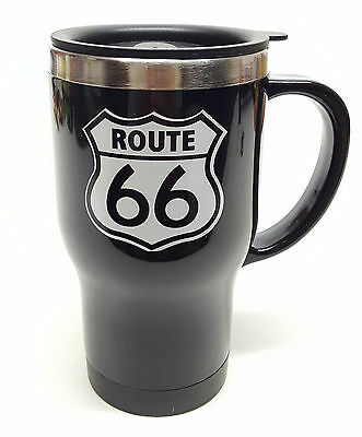 New Historic ROUTE 66 Thermal Insulated 16oz Travel Mug w/ Lid Stainless Plastic