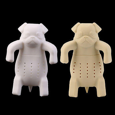 Dog Shape Tea Infuser Loose Leaf Strainer Herbal Silicone Filter Diffuser ZC