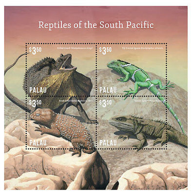 Palau - Reptiles of South Pacific, 2014 - 1414 S/H MNH