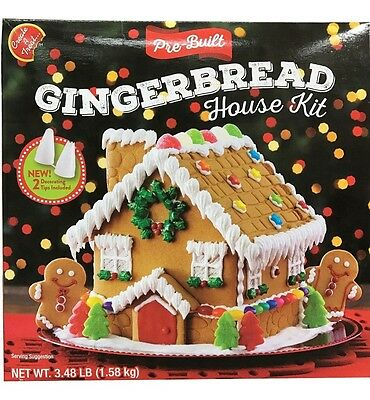 Create A Treat Gingerbread House Kit Pre-Built with 2 Decorating Tips 3.48 LB