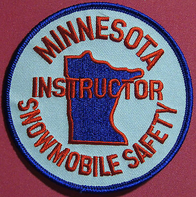 Minnesota DNR Enforcement Instructor Snowmobile Safety patch - new