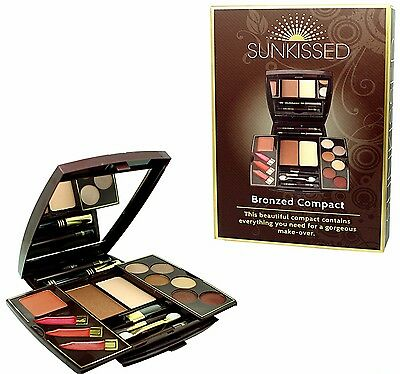 Sunkissed Mini Bronze Compact Make-up Set Gift Christmas Stocking Filler