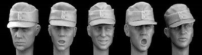 HORNET MODELS GERMAN HEADS WITH FIELDCAPS  Scala 1:35 Cod.HGH01