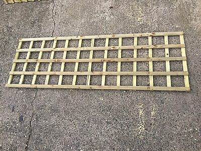 6x2 Square Top Trellis Fence Topper Lattice Pressure Treated Wood New RRP £18