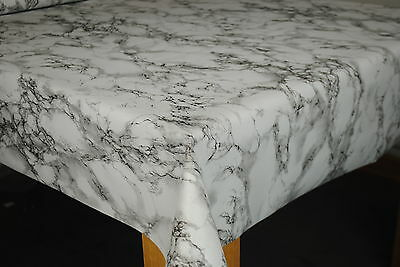 Marble Grey Vinyl Wipe Clean Pvc Tablecloth
