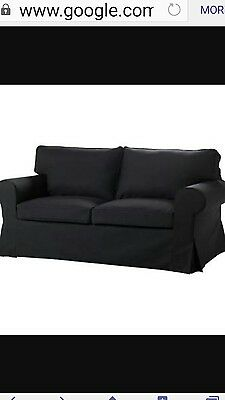 SOFA COVER for EKTORP 2 Seater, BLACK, USED in GOOD CONDITION NO BROKEN $129.99