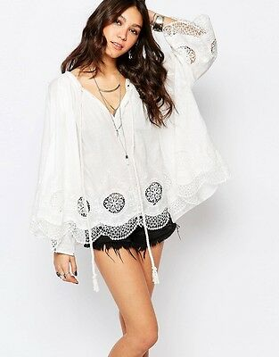 Stitch & Pieces Festival Smock Top With Rope Detail Uk M/L