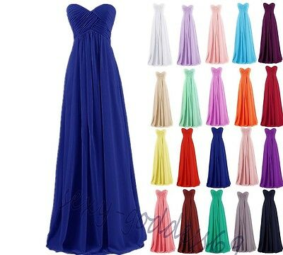 Chiffon Lace Evening Formal Party Ball Gown Bridesmaid Dress Dress 6~26 Custom