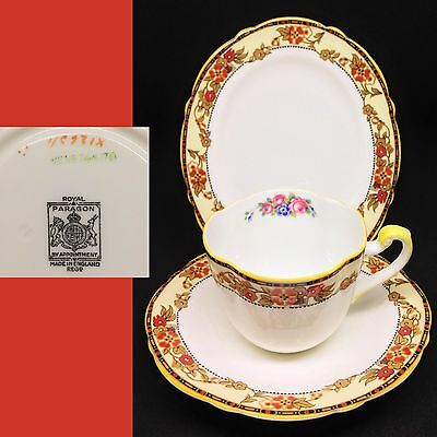 Royal Paragon 1933-34 Rd No 744170 Oval Vintage English Bone China Trio Set RARE