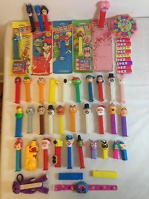 Lot of 42 Vintage PEZ Dispensers Peanuts Garfield Looney Tunes Muppets and More