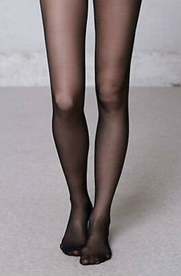 New 2 Pairs Black Matt Sheer 20 Denier Tights Age 5-6 8-10 Years Girls School