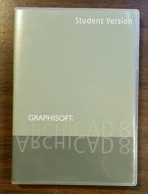 Graphisoft ArchiCAD Software Student Version 8.0 / 8.1 Architecture