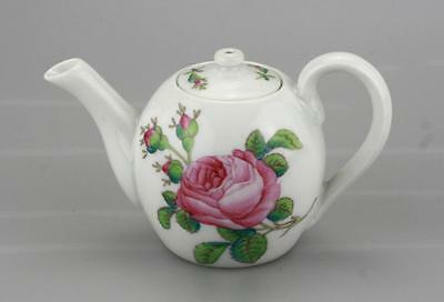 Antique Russian Imperial Porcelain Small Flora Teapot by Kornilov Br.Circa 19 C.