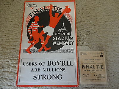 1934 FA Cup Final + Ticket  -  Manchester City  v  Portsmouth