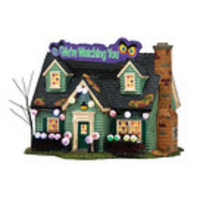 Department 56, Dept 56 Snow Village Halloween - Glares And Stares House, 4036590