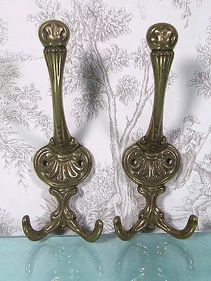 Brass Wall Hook:  Architectural Victorian Style Ornate Hanger Hat Coat Rack